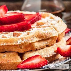 These Fluffy Belgian Waffles are golden and crispy on the exterior and fluffy soft on the inside. They're melt-in-your-mouth delicious!