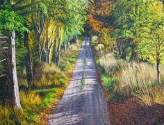 Dick Frizzell New Zealand Landscape, New Zealand Art, Nz Art, Kiwiana, Cool Art, Awesome Art, Art Icon, Landscape Paintings, Country Roads