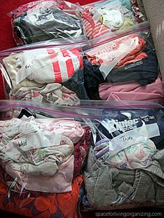 Packing for a trip- plastic bags to the rescue
