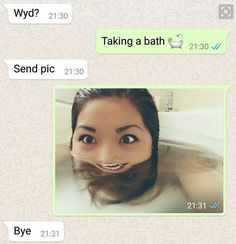 Bath selfies: