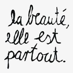Genial Lettering By Nadine Bieg   La Beauté   Brush   Lettering   Zitat    Zeichnung   Monsieur Ibrahim   Französisch