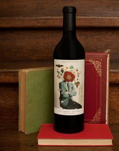 wine/book display