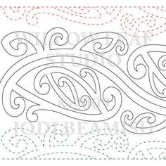 Description 1 row = 8 inches Ethnic design inspired by tribal Maori tattoos. This is the paper version of the pattern. Embroidery Patterns, Quilt Patterns, Embroidery Supplies, Maori Words, Maori Symbols, Maori Patterns, Polynesian Art, Polynesian Tattoos, Cross Tattoo For Men