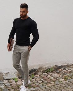 Essential Male Fashion Tips For Looking Good Anywhere – Men Shoes Site Casual Wear, Casual Outfits, Men Casual, Mode Outfits, Fashion Outfits, Mode Man, Style Masculin, Herren Outfit, Gentleman Style