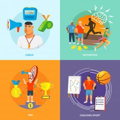 Coaching sport flat vector gratuito Modern Business Cards, Business Card Design, Software, Sale Banner, Business Presentation, Business Fashion, Football Players, Vector Free, Coaching
