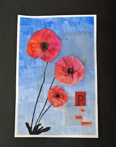 Every year I come up with a new Poppy project for Remembrance Day. This is the 2012 version. The poppies can be made in three ways, usin. Remembrance Day Activities, Remembrance Day Poppy, School Art Projects, Fall Projects, Poppy Craft, November Crafts, Anzac Day, Ecole Art, Spring Art