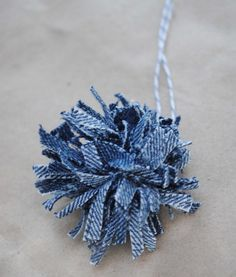{pattern} denim pom poms [white denim <3]