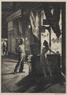 Night prints of Martin Lewis, the forgotten teacher of Edward Hopper - Cultura Inquieta Source by , Rockwell Kent, Norman Rockwell, Edward Hopper, Drypoint Etching, Illustration Art, Illustrations, Art Prints For Sale, Wood Engraving, Nocturne
