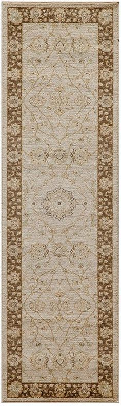 "Momeni Closeout! Voyage Abbey Brown 2'3""x7'6"" Runner Rug"