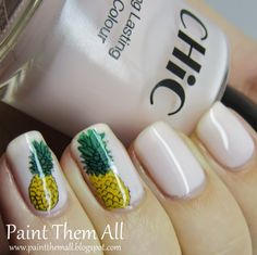 Pineapple Holiday Nails, Face Art, My Nails, Pineapple, Nail Polish, Painting, Beauty, Color, Pine Apple