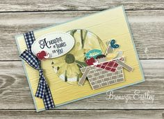 Hi there. Welcome to another instalment of projects that I made for a Display Board at On Stage in Melbourne. Today I'm featuring the stamp set,Picnic with You. It has some rather cute, p…