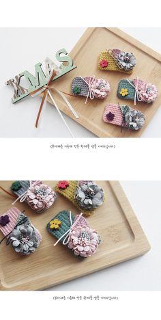 Girls Hair Accessories, Crochet Accessories, Crochet Home, Crochet Gifts, Quilt Patterns, Crochet Patterns, Baby Hair Clips, Hair Ornaments, Embroidery Dress