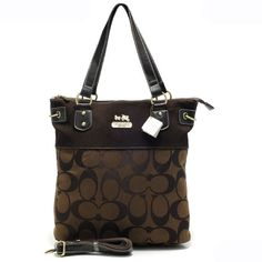 #CoachNewYorkStories Coach Legacy In Signature Medium Coffee Totes APZ