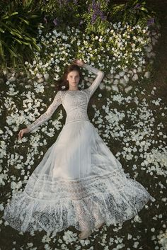 Luxe wedding dress with long sleeves and full skirt from Eisen Stein 2016 Collection - see the rest of the collection on www.onefabday.com