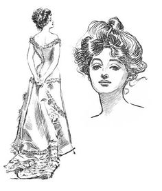 American artist Charles Dana Gibson (1867-1944) created a pen-and-ink drawing of…