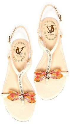If ANYONE loved me enough, buy me these. I LOVE LOVE LOVE these!!! Dragonfly Sandals ♡