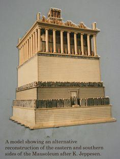 Das Mausoleum von Halikarnassos in Bodrum in der Türkei British Museum, Pisa, London, Architecture, Historia, Wonders Of The World, Sculptures, Model, Big Ben London
