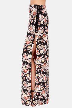 Rose Garden Floral Print Maxi Skirt at LuLus.com!