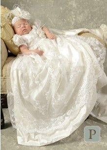 Preslee Silk Christening Gowns for Girls