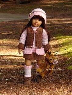 HandKnitted Tunic Sweater Set for Kidz n Cats dolls Aletta by Debonair Designs #DebonairDesigns2015 #ClothingAccessories