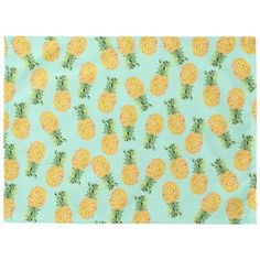 pineapple fruit Placemat ($69) ❤ liked on Polyvore featuring home, kitchen & dining, table linens, pineapple placemats and fruit placemats