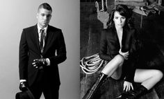 Mark Salling and Lea Michele.  How I want them together on Glee!