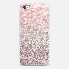 Girly Pink Snowfall Cross iPhone & iPod case by Lisa Argyropoulos
