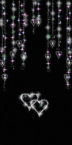Sparkle and Glitter black and heart gif Heart Wallpaper, Locked Wallpaper, Wallpaper Backgrounds, Iphone Wallpaper, I Love Heart, My Heart, Heart Gif, Je T Aimes, Coeur Gif
