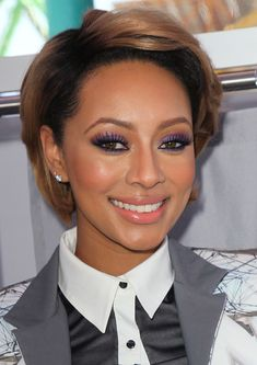 Keri Hilson: Keri Hilson proved that purple and coral is a winning makeup combination.