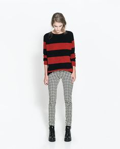 ZARA - NEW THIS WEEK - HOUNDSTOOTH PRINT TROUSERS