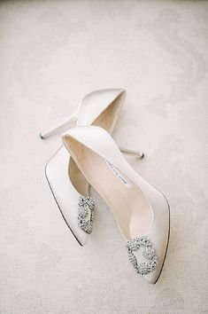 ea177dcef19 Manolo Blahnik Ivory Wedding Shoes