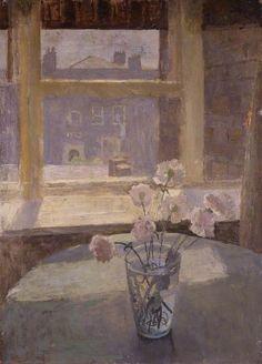 Carnations - Mary Potter, 1950 British Oil on canvas, x cm Aberdeen Art Gallery, Window Art, Window Sill, Still Life Art, Art Uk, Carnations, Painting Inspiration, Life Inspiration, Painting & Drawing