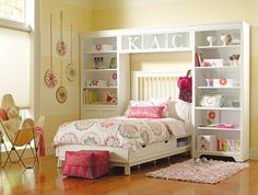Dana Above Bed Wall Storage Unit with Doors by Young America by Stanley, Bookshelves, Furniture for Children Modern Kids Bedroom, Kids Bedroom Designs, Teen Bedroom, Bedroom Decor, Bedrooms, Bedroom Ideas, Bedroom Bed, Master Bedroom, Bookshelves Kids