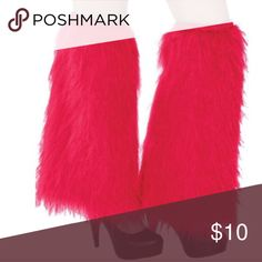 Red faux Furry Leg Warmers! NWOT💫 Red Furry Leg Warmers! Leg warmers have all over red faux fur and cover your legs from your knees to your ankles. They're a funky way to cheer on your team or school!  NWOT Red Furry Leg Warmers product details: Each measures 16in long 70% acrylic, 30% polyester One size fits most children, teens and adults💫 Accessories Hosiery & Socks