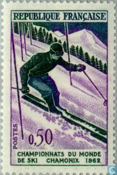 Stamp: Ski World Championships in Chamonix Slalom (France) (Ski) Yt:FR 1397