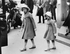 Princess Elizabeth and Princess Margaret, May 6, 1937