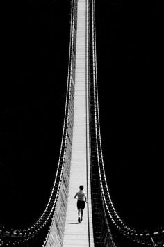 vvv The bridge by Fabienne Bonnet Black White Photos, Black And White Photography, Creative Photography, Art Photography, Inspiring Photography, Film Inspiration, Foto Art, Background S, Cool Pictures