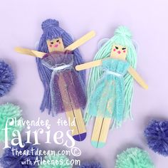 Fairies are a fluttering among the lavender fields, what inspiration those beautiful fragrant flowers are and the fairies are gathering them to keep the bad spirits away. Create these fairies from popsicle sticks and a little fairy dust!