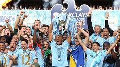 Manchester City after winning EPL
