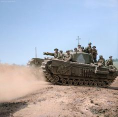 "bmashina: ""Churchill VI in Normandy, summer 1944. """