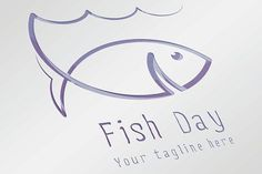 Fish Day Logo by Infographic Paradise on @creativemarket