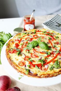 Vegetable Pizza, Quiche, Good Food, Food And Drink, Vegetables, Breakfast, Recipes, Foods, Holidays