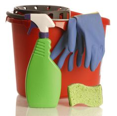 Use Vinegar to Save Money Around the House     Vinegar and Dawn detergent mixed in spray bottle, used to clean tub and shower after use, spray on and let stand, then rinse, comes out nice and shiney, no scrubbing and harsh chemicals....easy for all to use after getting themselves clean.