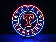 Mlb Texas Rangers, Rangers Baseball, Neon Clock, Custom Neon Signs, Neon Light Signs, Beer Bar, Led Neon Signs, Shop Lighting, Vintage Signs