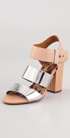 Sam Edelman Yelena High Heel Sandals in Pink (gunmetal)   Lyst
