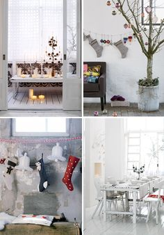 Decoração de Natal em estilo escandinavo