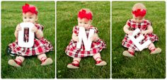 First birthday pictures, outdoor photography, baby girl pictures, one year old, red dress