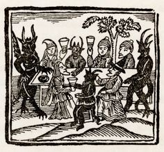 "deathandmysticism: ""Witches at a Sabbath having supper with the Devil and his demons """