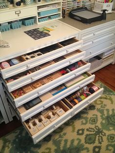 Craft Room Organization, Martha Stewart Furniture, Ikea