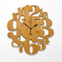 Unique Bamboo Wall Clock -  Numeric Forest